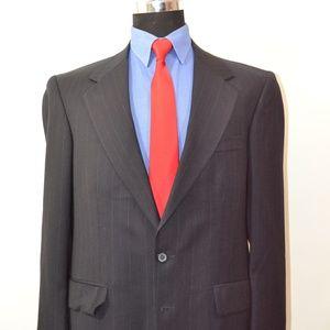 Savile Row 40R Sport Coat Blazer Suit Jacket Navy